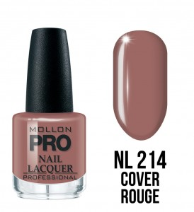 214. Cover rouge - Lakier Klasyczny Hardening Nail Lacquer 15 ml - Mollon PRO
