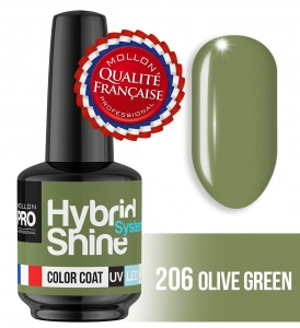 Lakier hybrydowy Hybrid Shine System - Color UV/LED - 2/206 OLIVE GREEN