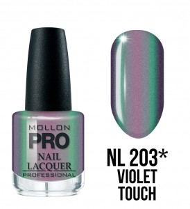 203. Violet touch - Lakier Klasyczny Hardening Nail Lacquer 15 ml - Mollon PRO