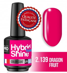 Lakier hybrydowy Hybrid Shine System - Color UV/LED - 2/139 DRAGON FRUIT