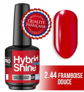 Lakier hybrydowy Hybrid Shine System - Color UV/LED - 2/44 FRAMBOISE DOUCE