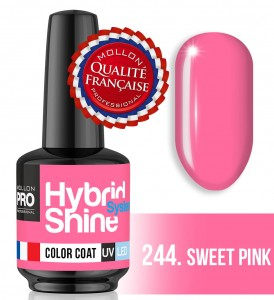 Lakier hybrydowy Hybrid Shine System - Color UV/LED - 244 Sweet Pink