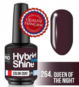 Lakier hybrydowy Hybrid Shine System - Color UV/LED - 264 Queen of the Night