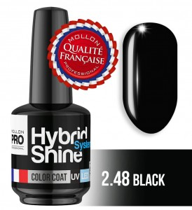 Lakier hybrydowy Hybrid Shine System - Color UV/LED - 2/48 BLACK / NOIR