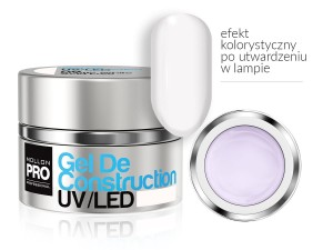 Gel De Construction UV/LED w systemie trójfazowym  - 08 SUBTLE WHITE  30ml - Mollon PRO