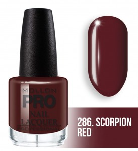 Hardening Nail Lacquer Mollon PRO nr 286 Scorpion red