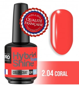 Lakier hybrydowy Hybrid Shine System - Color UV/LED - 2/04 CORAL