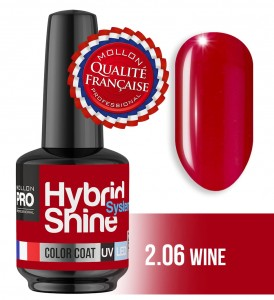 Lakier hybrydowy Hybrid Shine System - Color UV/LED - 2/06 WINE