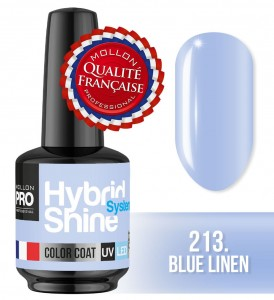 Lakier hybrydowy Hybrid Shine System - Color UV/LED - 213 Blue Linen