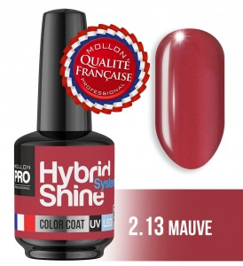 Lakier hybrydowy Hybrid Shine System - Color UV/LED - 2/13 MAUVE