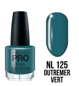 125. Outremer vert - Lakier Klasyczny Hardening Nail Lacquer 15 ml - Mollon PRO