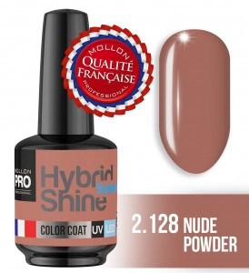 Lakier hybrydowy Hybrid Shine System - Color UV/LED - 2/128 NUDE POWDER