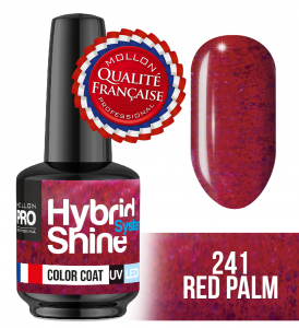 Lakier hybrydowy Hybrid Shine System - Color UV/LED - 241 Red Palm