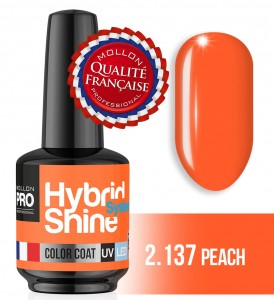 Lakier hybrydowy Hybrid Shine System - Color UV/LED - 2/137 PEACH