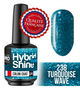 Lakier hybrydowy Hybrid Shine System - Color UV/LED - 238 Turquoise Wave