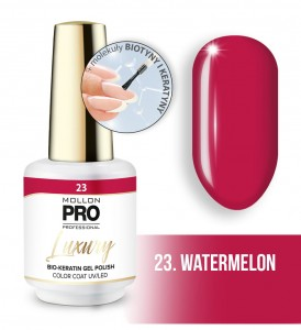 23. WATERMELON LUXURY GEL POLISH COLOR COAT - HYBRYDA ŻELOWA UV/LED Mollon PRO 8ml