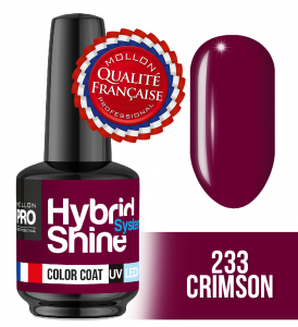 Lakier hybrydowy Hybrid Shine System - Color UV/LED - 233 Crimson