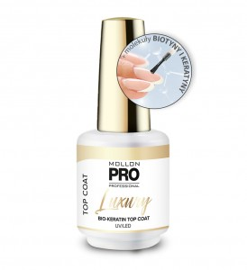 LUXURY BIO-KERATIN TOP COAT UV/LED - Mollon PRO 8ml