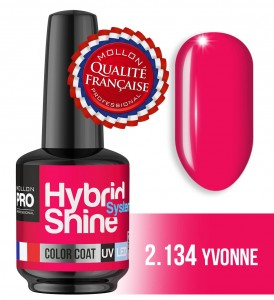 Lakier hybrydowy Hybrid Shine System - Color UV/LED - 2/134 YVONNE