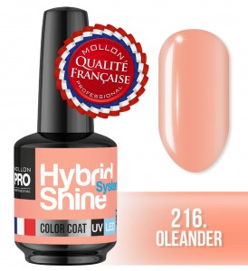 Lakier hybrydowy Hybrid Shine System - Color UV/LED - 216 Oleander